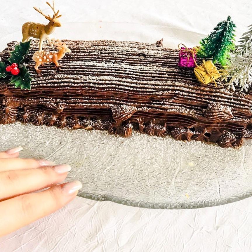 La bûche chocolatée sanslactose